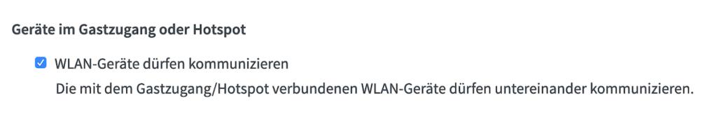 AirPlay-Bildschirmsynchronisation geht nicht bei Fritz!Box-Router im Gast-WLAN