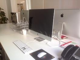 mein Arbeitsplatz mit Mac